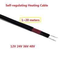 1 ~ 20 mètres 12V 24V 36V 48V DC câble chauffant autorégulant câble de traçage thermique basse tension pour la Protection contre le gel
