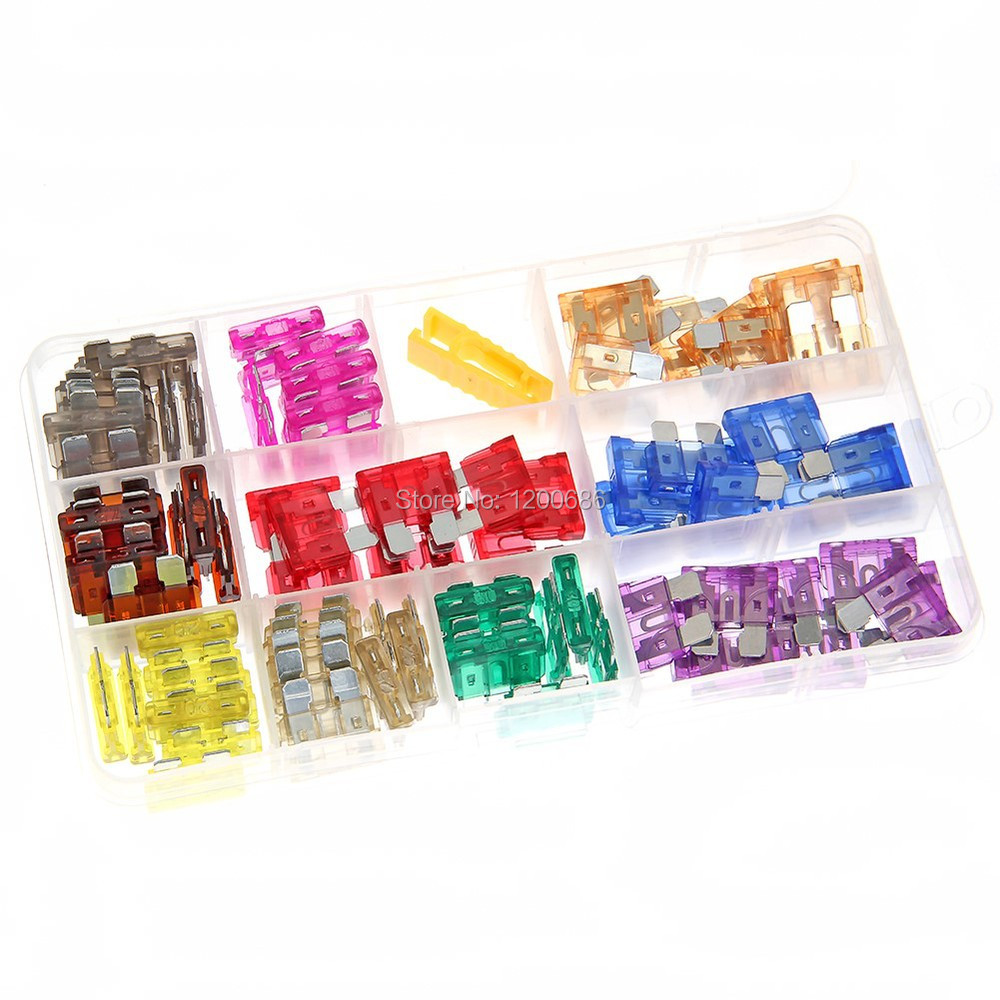 Standard Blade Auto Car Assorted Fuse Assortment Kits Sets 5A 10A 15A 20A 25A 30A 35A 40A With Box от Aliexpress INT