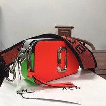 Та же Летняя распродажа унисекс полиэстер Повседневная Новая сумка для камеры мини широкий плечевой ремень смешанный цвет маленький квадратный кожаная женская сумка