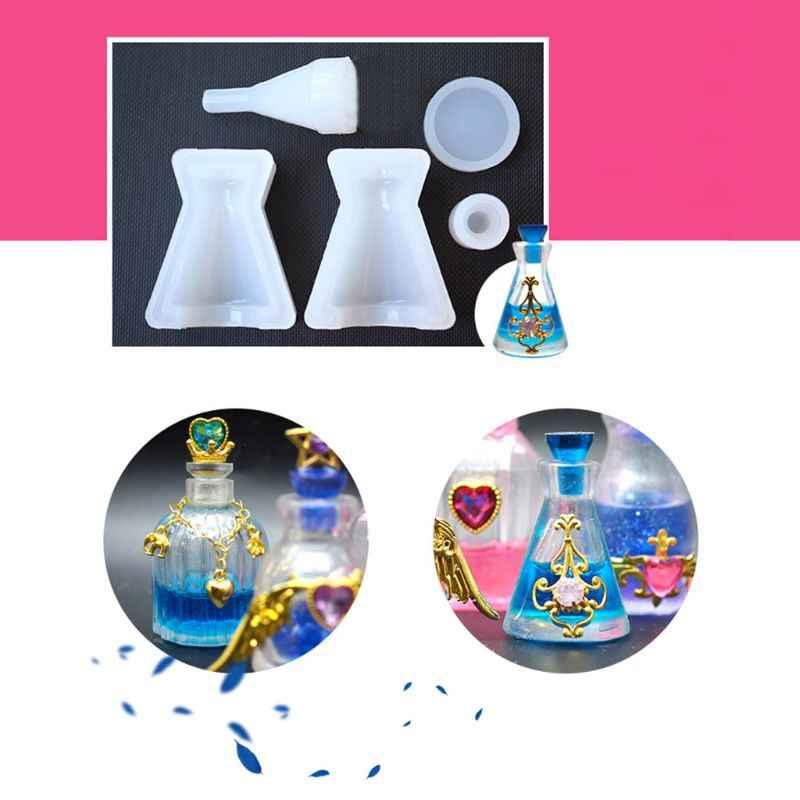 Силиконовая форма, сделай сам, флакон для духов, стеклянные флаконы, форма для лекарств, бутылки для жидкости, эпоксидная полимерная для торта, украшение, помадка, шоколадные изделия