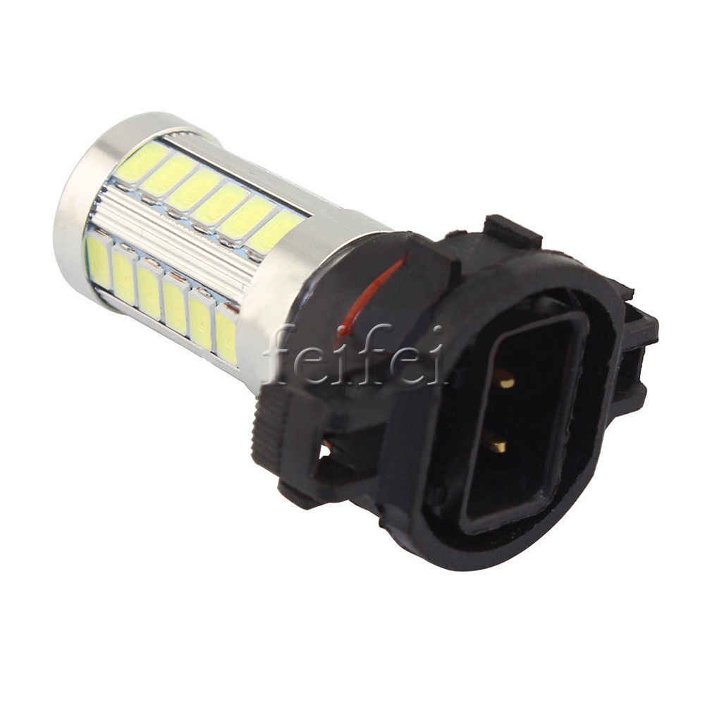 2X H16 33 SMD 5630 Led Car fog Auto light Turn Brake DRL Driving Lamp Rear Reverse Bulbs Orange white blue brake light