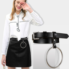Badinka 2017 New Design Women Belt Female Big Ring Decorated Waist Belts Lady Girls Fashion Pin Buckle Solid Leather Strap