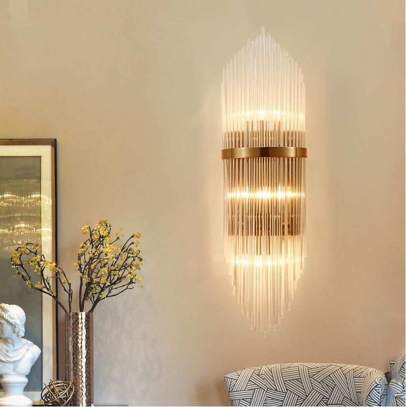 Led e14 Nordic Ferro di Cristallo Del Progettista HA CONDOTTO LA Lampada HA CONDOTTO LA Luce lampada da parete Applique Da Parete del Riparo Della Parete Per Bar Negozio Foyer camera da letto