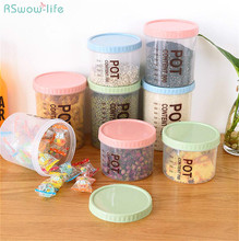 Kitchen Transparent Sealed Tank Plastic Household Grain Receiving Box Food Storage Container Set PP