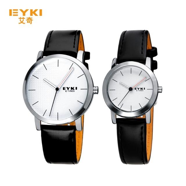 2016 novos homens amantes pulseira de relógio relógios de marca eyki homens de aço inoxidável relógio de quartzo moda as mulheres se vestem relógio de pulso à prova d' água