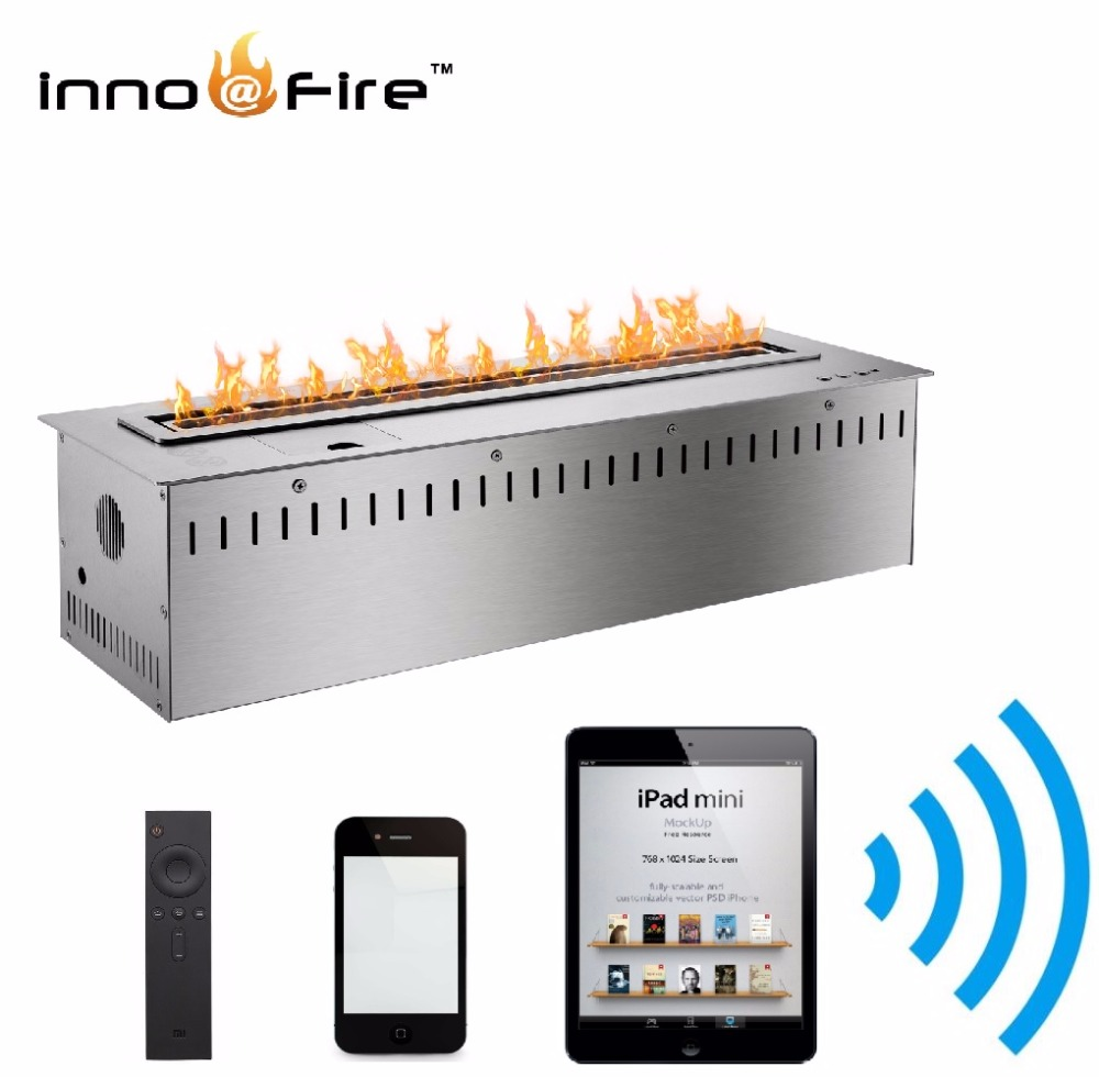 Inno-living 1.8 M Smart Control Wall Insert Electric Fireplace Bioethanol