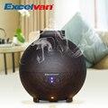 Excelvan 20006A 500 ml de Aceite Esencial Difusor de Aroma Difusor de Aromaterapia Humidificador Ultrasónico Fabricante de La Niebla Purificador de Aire de Vetas de la madera