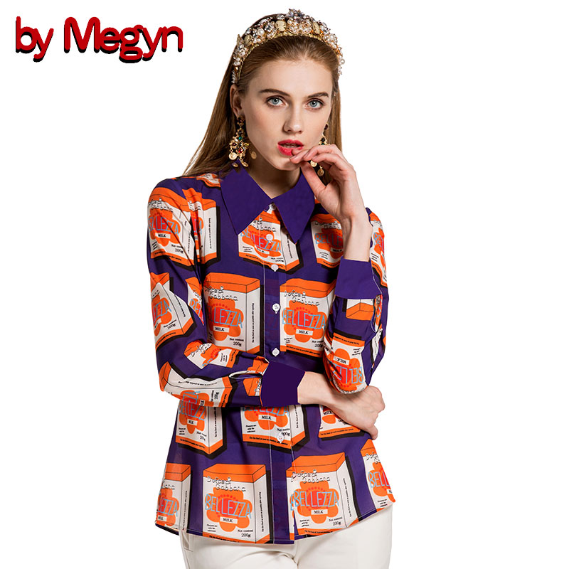 by megyn ladies tops and blouses 2018 woman long sleeve fashion printed shirts blouses plus size
