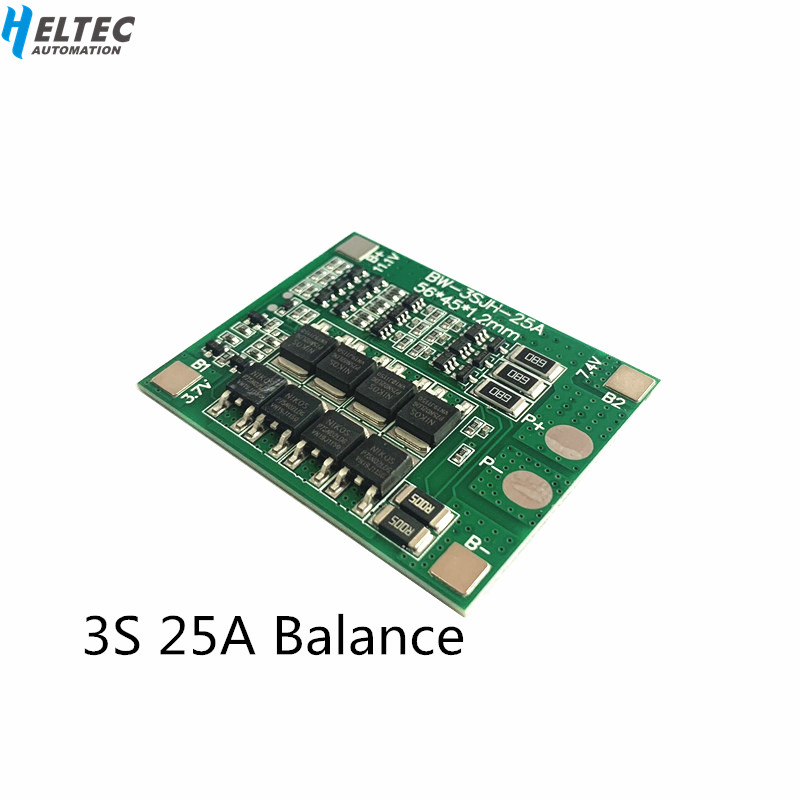Wholesale 3S 25A BMS 12V  Lithium Battery Protection Board Electric Tools Sprayer  Balanced Circuit For Ternary/