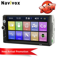 Navivox 2Din 7 Car Stereo MP5 Player Auto Indash Car Multimedia Player with Radio Bluetooth HD Touch Screen Remote Control Cam