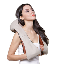 U Shape Neck Back Pain Relief Shoulder Heat Massager Shiatsu Kneading Electric 3D Kneading Massager