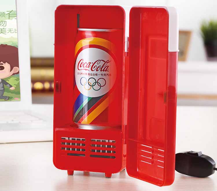 Mini USB Portable Office Desktop Fridge Students Dormitory Freezer Dual Use Car Home Beverage Cans Cooler