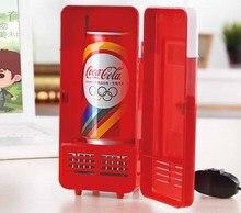 Мини USB портативный офисный Настольный холодильник студенты общежития морозильник двойного назначения автомобиля дома банок для напитков кулер Теплее Холодильник