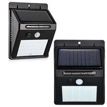 20 LED Solar Lighting PIR Motion Sensor Waterproof Wall Light LED Outdoor Sensor Solar Garden Lamp For Outdoor Decorative