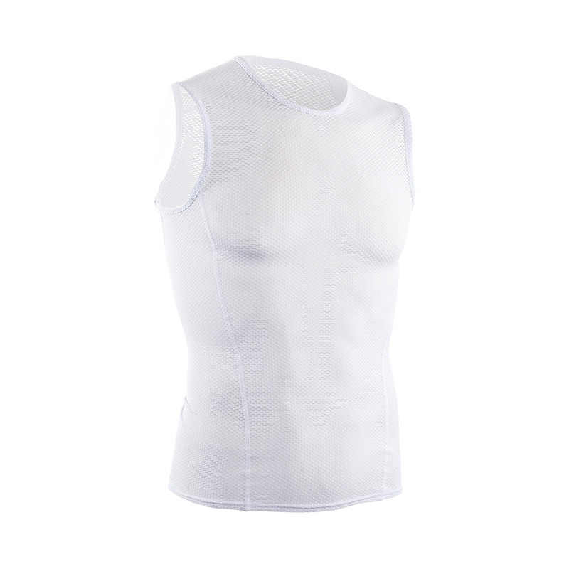 ARSUXEO Summer Men's Cycling Vest Mesh Bike Jersey Sleeveless Cycling Base Layers Underwear Gym Fitness Sports Running Vest