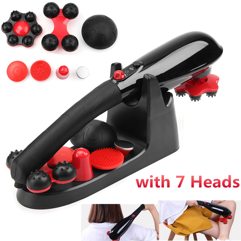 5 Speed Cordless Percussion Massager Full Body Massage Stick Roller Handheld Neck Back Feet Drop Shipping