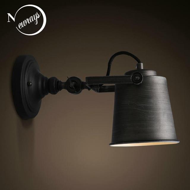 Vintage rétro loft industriel réglable mur lampes applique E27 LED