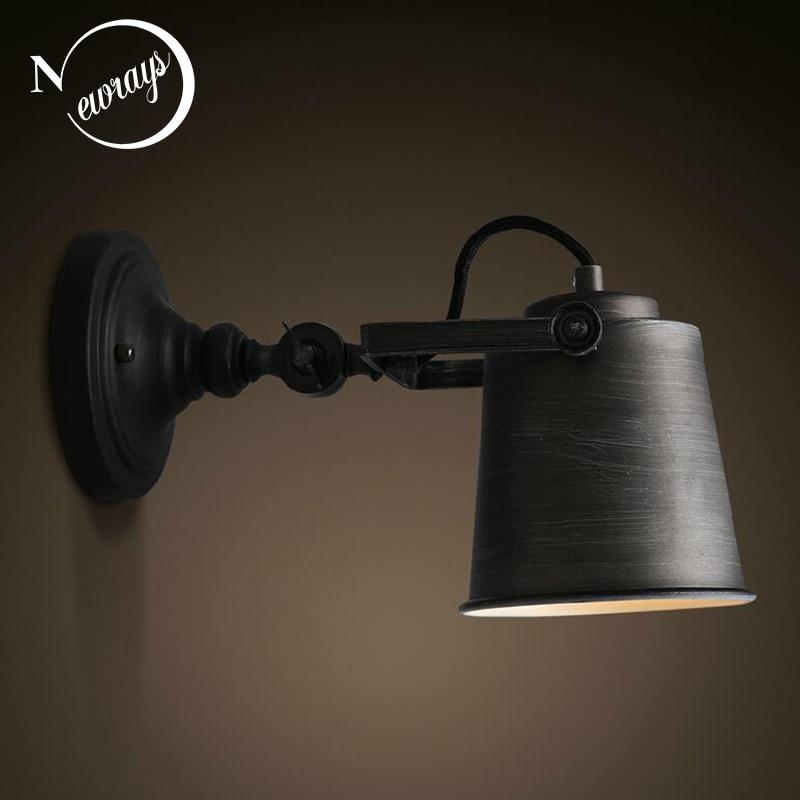 Vintage retro loft industrial adjustable wall lamps sconce E27 LED lighting modern for living room bedroom illumination bathroom