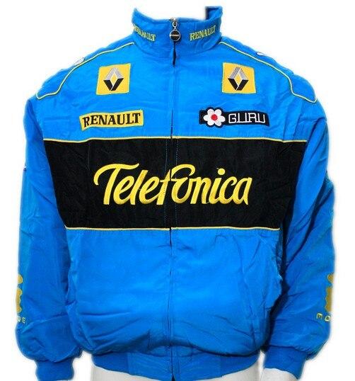 Race Car Jackets >> F1 Automobile Race Motorcycle Driver Windproof Renault Zipper