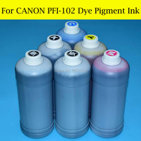 6 Liter Refill Ink For Canon PFI 102 PFI 104 For Canon IPF650 IPF655 IPF750 IPF755