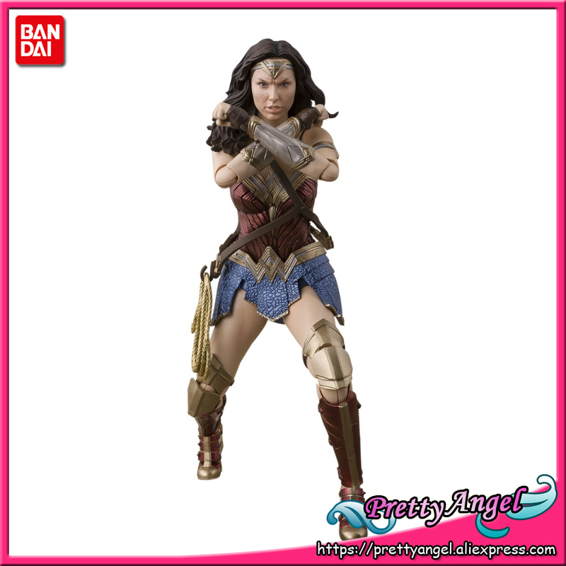 PrettyAngel - Genuine Bandai Tamashii Nations S.H. Figuarts Justice League Wonder Woman (JUSTICE LEAGUE) Action Figure imagining justice
