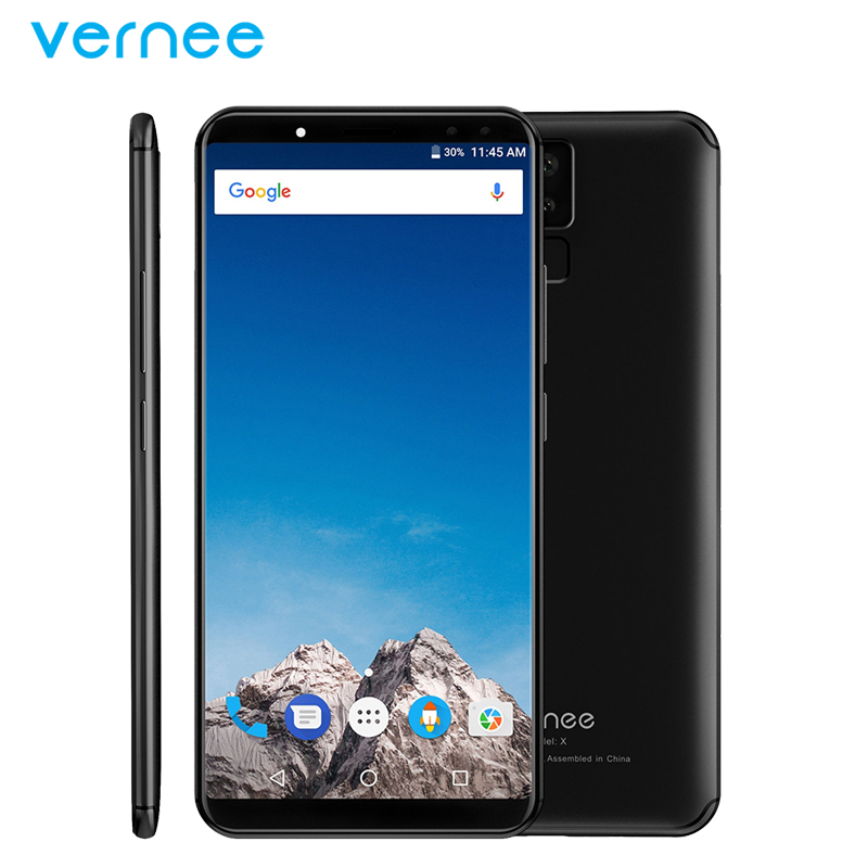 Orignal Vernee X Mobile Phone 6 0 Inch Screen 6GB RAM 128GB ROM MTK6763 Octa Core