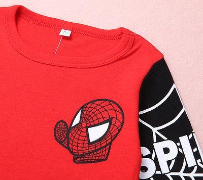 Cool Children Clothes Baby Kids Boys Spiderman Pullover Tops negros / - Ropa de ninos - foto 3