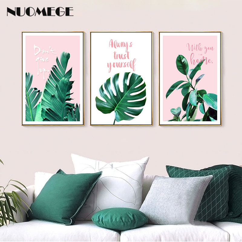 Aliexpress Buy Modern Green Tropical Plant Leaves