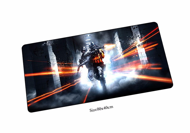 Battlefield 3 mouse pad cheapest pad to mouse notbook computer mousepad new gaming padmouse gamer to laptop 80x40cm mouse mat