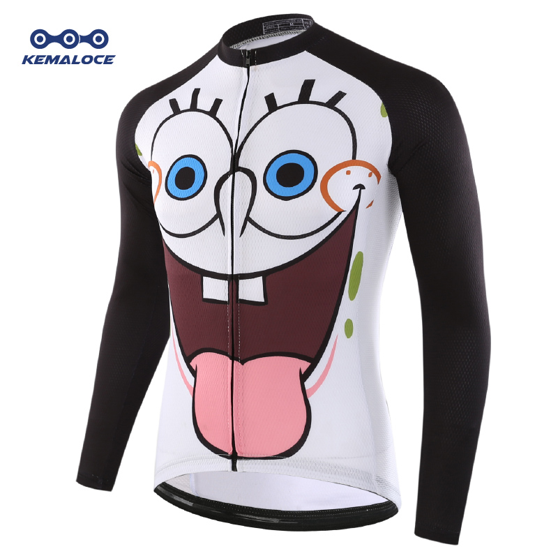 Men Pro Cycling Jersey Long Sleeve Bike Outfit Sportswear Bicycle Top Breathable