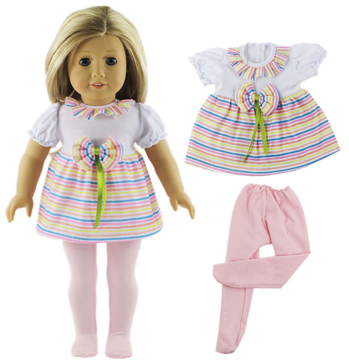 Doll Clothes-ballet Skirt Set Include Dress And Pantyhose Fit 18 Inch American  Doll,Our Generation,Journey