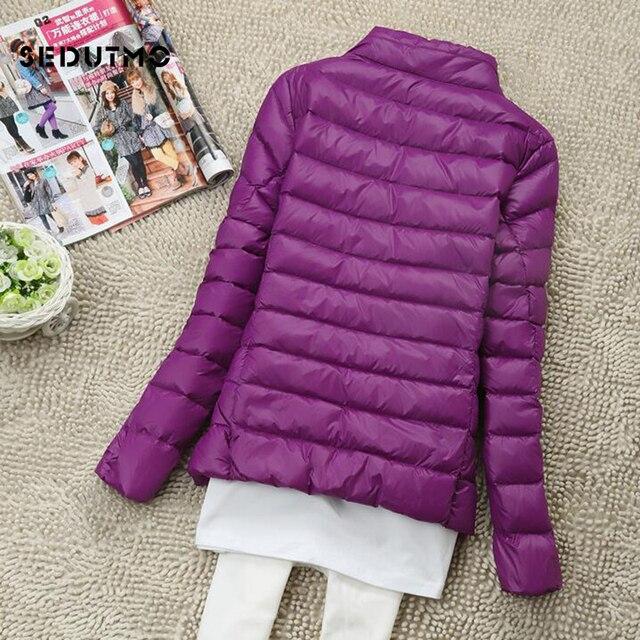 SEDUTMO Winter Women Down Coat Short Ultra Light Duck Down Jackets Slim Puffer Jacket Autumn Parkas ED660 4
