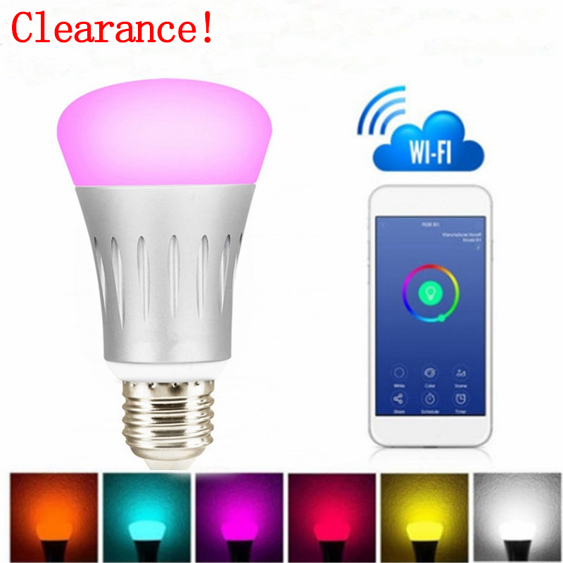 Led Bulbs & Tubes Have An Inquiring Mind Wifi Light Bulb Smart Led Bulb E26 7w Dimmable Night Light Wireless Wi-fi Rgb Multi-color Lamp Bulb Home Reading Lighting Luxuriant In Design
