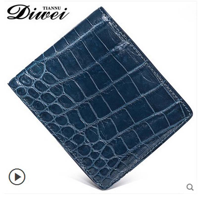 Diwei crocodile men wallet without splicing belly thin money bag youth fashion multi-function ticket men bag men without women