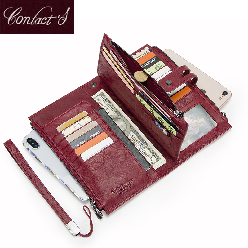 Cellphone Clutch Bag For Ladies Genuine Leather Women Wallets High Quallity Zipper Coin Purse Card Holder Trifold Long WalletCellphone Clutch Bag For Ladies Genuine Leather Women Wallets High Quallity Zipper Coin Purse Card Holder Trifold Long Wallet