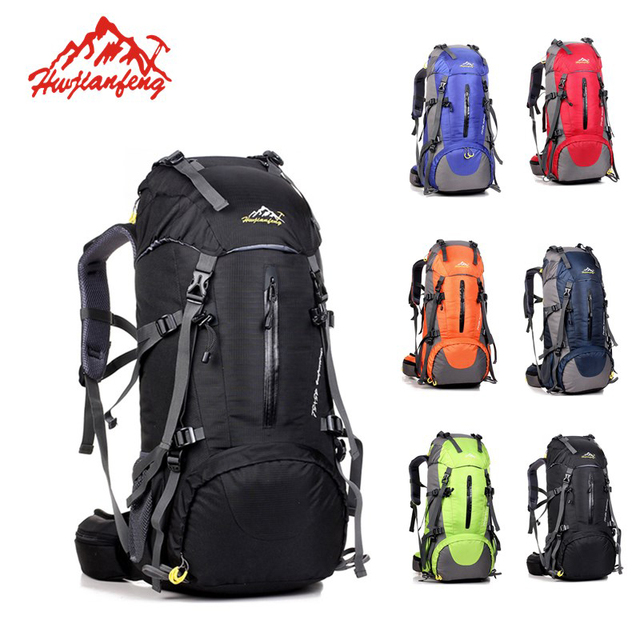5c734493f5 50L Women Men Sports Bag Outdoor Travel Climbing Tracking Bag Backpack  Waterproof Trail Trekking Backpack Mountaineering