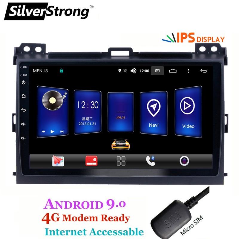 SilverStrong IPS 9inch Android9 0 4G SIM Modem Car DVD for Toyota Prado 120 LandCruiser GPS