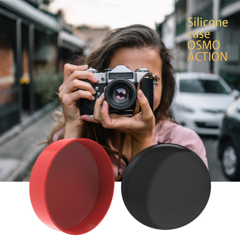 ports Camera Lens Cover Protective Cover Silicone Case Protector Dustproof Lens For Dji Osmo Action Accessories Bracket in Parts Accessories from Toys Hobbies