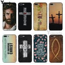 Yinuoda Bible Jesus Christ Christian Cross design Black Case Cover for iPhone 6 6s Plus 7 7Plus SE 5s 5 X XS XR max coque