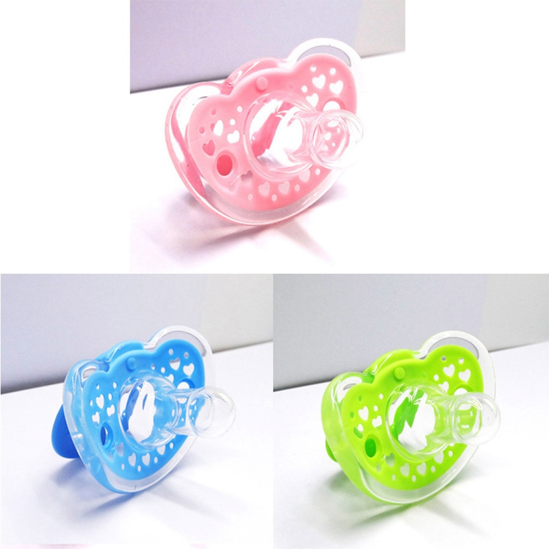 Infant Baby Pacifier Soother Silicone Dummy Soother Soft Nipple Teether Nipples Storage Box Baby Feeding For 3 Colors