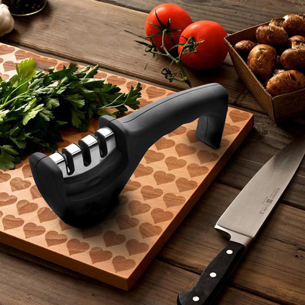 Preup شحن مجاني المهنية سكين مبراة الماس التنغستن الصلب كربيد الخزف سكين شحذ أدوات المطبخ 3 ألوان