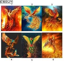 Diy Diamond siuvinėjimas įvairių formų Phoenix deimantų tapyba kryžminio stitch pilnas kvadratinių ir apskrito gręžimo mozaikos apdailos rinkiniai
