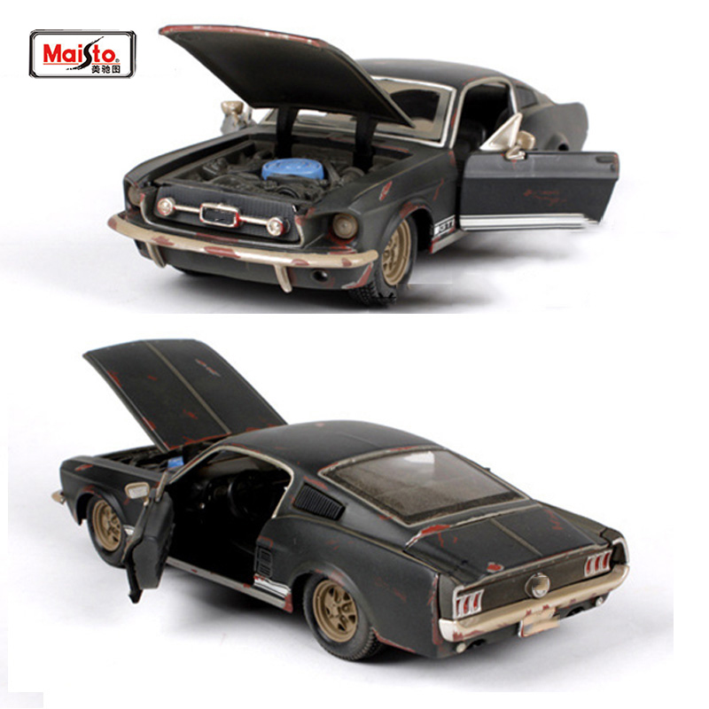 Kids toys Maisto 1:24 old version 1967 Mustang GT black Sports Cars ...