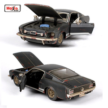 Kids toys Maisto 1:24 old version 1967 Mustang GT black Sports Cars 1/24 Alloy Diecast Car Model Toys for Collection