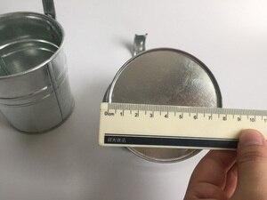 Image 4 - 10 unids/lote D9.5XH18CM balde colgante maceta de balcón de hierro maceta para jardín de infantes decoración de Metal para guardería