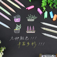 0.8mm High Light Hand-painted Color Pen Art Painting Pen Diy Creative Design Paint Pen Fine Head For Sketch White Paint Mark 1pc faber castell 12 18 30 color can be assembled water color drawing pen design hand drawn hook mark pen