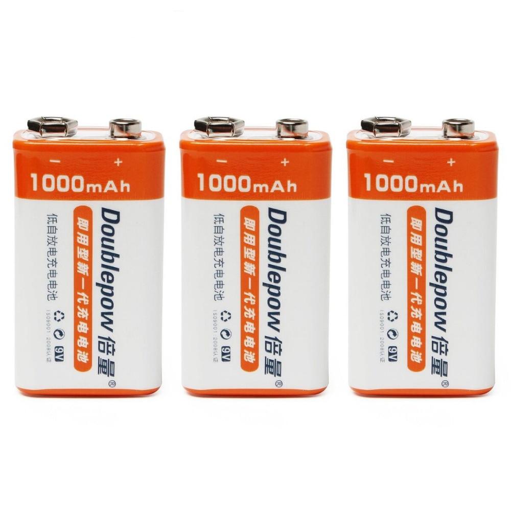 Careful 3pcs/set Original Doublepow 9v 1000mah Lsd Li-ion Rechargeable Battery Prismatic Batteries With 1200 Cycle