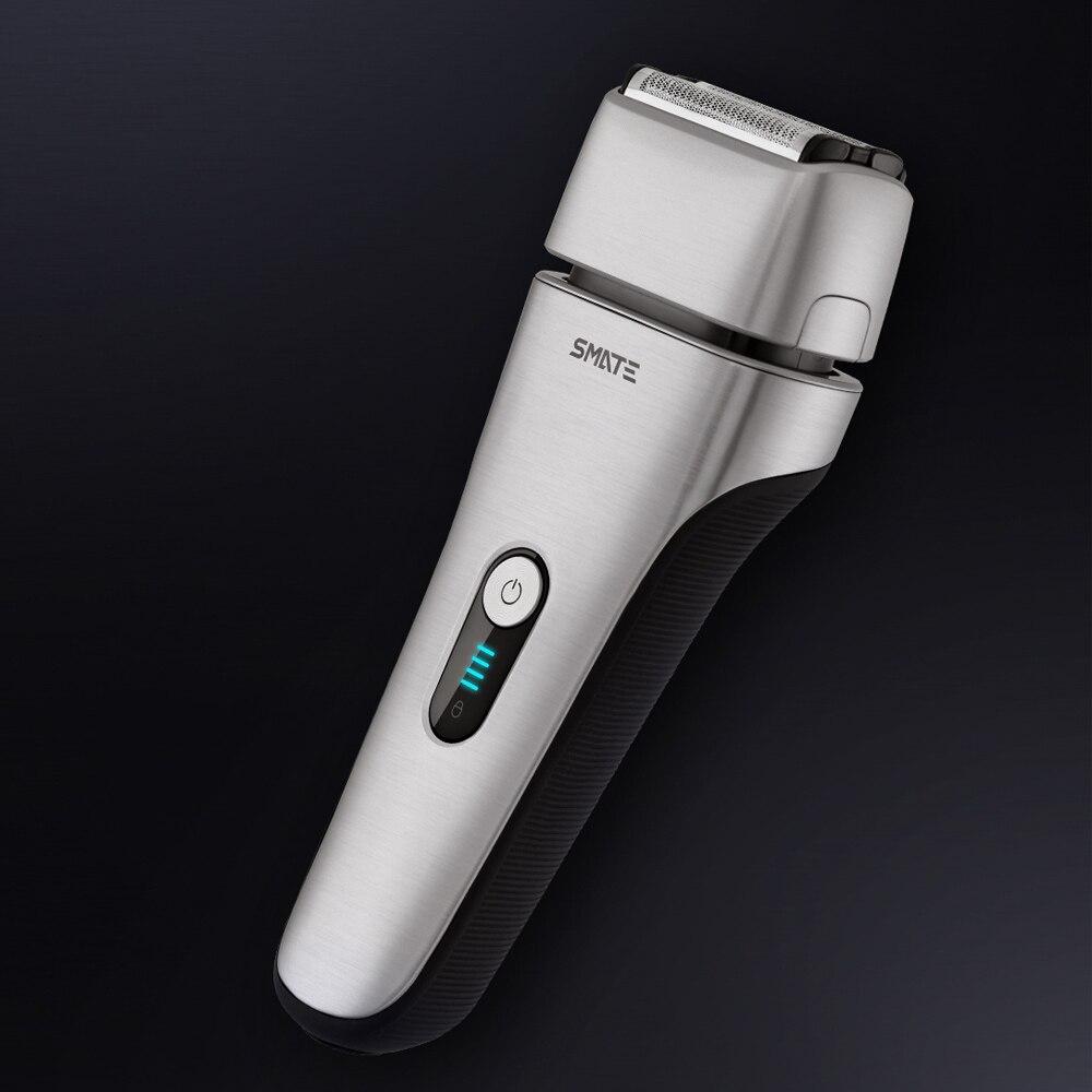 Xioami smate rasoir électrique xumei soins de la peau protéger pas de mal sec humide rapide nettoyer 4 lames rasoir pour homme petit ami papa mari - 4