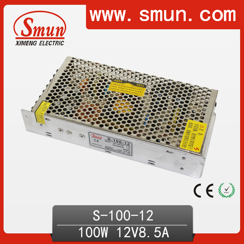 CE And RoHS Approved Switching Power Supply 100W 12V 8.5A SMPS S-100-12