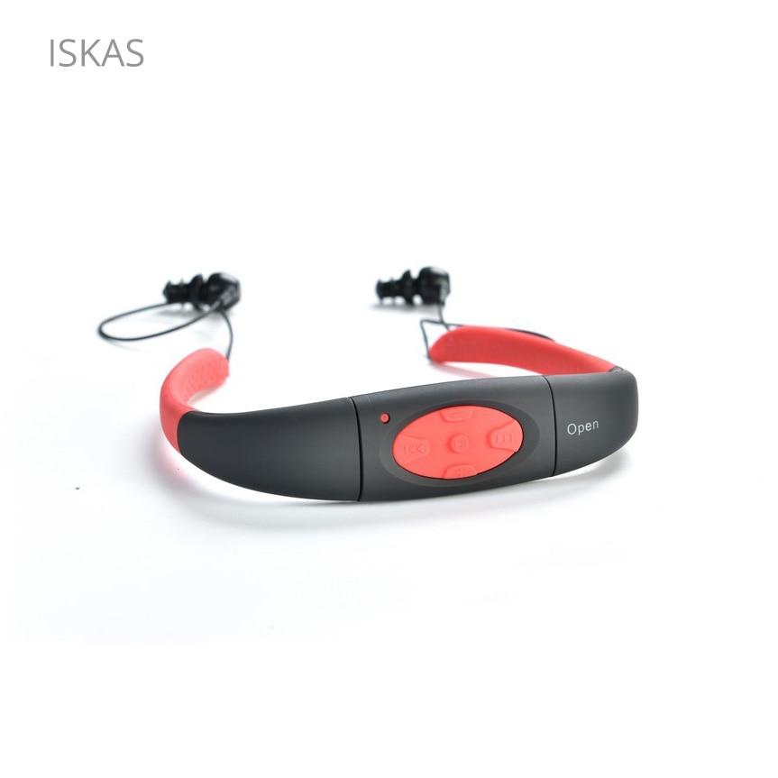 ISKAS Mp3 Waterproof Swimming Sport Diving IPX8 WMA MP3 Player 4GB/8GB Good New Fashion Music FM Radio Underwater Surfing